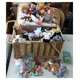 Large Picnic Basket of Beanie Babies