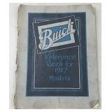 Buick Reference Book for 1927 Models