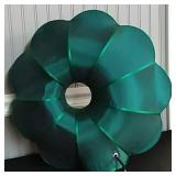 Turquoise Green Silk Flower Lamp