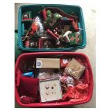 2 - Totes Full Xmas Ornaments/Lights etc