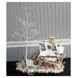 Lighted Porcelain Gingerbread House