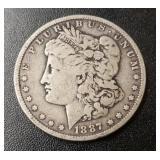 1887-P Morgan Dollar