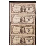 (4) U.S Star Note $1 Silver Certificates