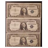 (3) U.S Star Note $1 Silver Certificates #2