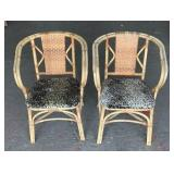 (2) Wicker Chairs