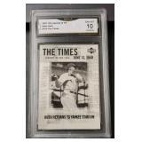 2001 Babe Ruth Card: GMA Gem MT 10