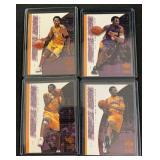 (4) 2001 Purple Reign Kobe Bryant Insert Cards