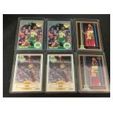 (6) 1990 Shawn Kemp Rookie Cards
