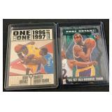 (2) Kobe Bryant Basketball Rookie and 1 on 1 Card