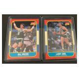 (2) 1986 Fleer Larry Bird and Bill Walton Cards