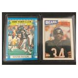 (2) 1987 Walter Payton Football Cards