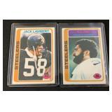 (2) 1978 Franco Harris and Jack Lambert Cards