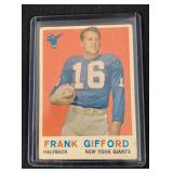 1959 Topps Frank Gifford Football Card