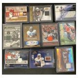(10) NFL Autographed/ Jersey Football Cards