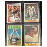 1970s Raiders HOF Football Cards