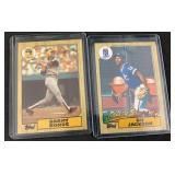 1987 Topps Barry Bonds and Bo Jackson Rookie Cards