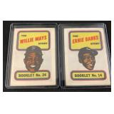 1970 Willie Mays and Ernie Banks Booklet Card