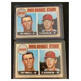 (2) 1968 Rookie Stars Lov Piniella Card