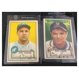 (2) Original 1952 Topps Baseball Cards