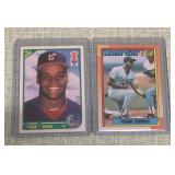 (2) 1990 Frank Thomas Rookie Topps & Score Cards