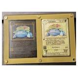 Metal Gold/ Black Venusaur Pokemon Cards