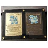 Metal Gold/ Black Blastoise Pokemon Cards