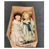 (2) Porcelain Dolls