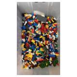 Tote Half Full of Legos