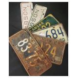 (6) Classic License Plates
