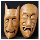 (2) Wooden African Masks