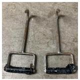 (2) Hay Hooks