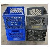 (4) Milk Crates