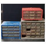 (3) Hardware Storage Bins