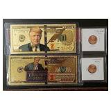 Novelty Trump Banknotes & Pennies