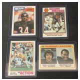 (4) Vintage Walter Payton Topps Cards