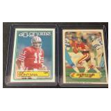 (2) 1983 Topps Mint Joe Montana Cards