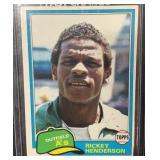 1981 Topps Mint Rickey Henderson Card