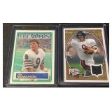 (2) Jim McMahon Rookie & Jersey 22/25  Cards