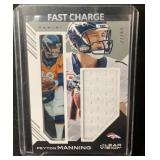 Rare Peyton Manning Game Used Jersey Card