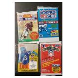 (4) Sealed Football Card Packs