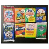 (8) Sealed Baseball Cards