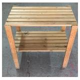2-Tier Wood Stand