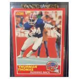 1989 Score Mont Thurman Thomas Rookie Card