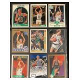 (9) Mint Larry Bird Basketball Cards