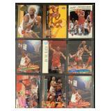 (9) Mint Dennis Rodman Basketball Cards