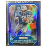 Rare Barry Sanders Blue Prizm Insert Mint