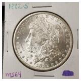 1882-S Morgan Dollar: GEM B.U