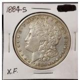 1884-S Morgan Dollar: XF