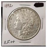 1892-P Morgan Dollar: X.F+