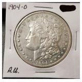 1904-O Morgan Dollar: A.U